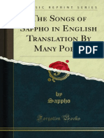 Songs of Sappho in English Translation by Many Poets 1000630941