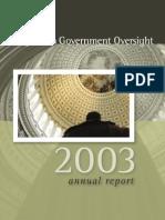 POGO 2003 Annual Report