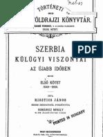 Risztics János - Szerbia külügyi viszonyai az újabb időben (1848-1860)
