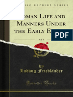 Roman Life and Manners Under the Early Empire