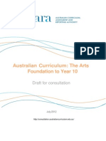 draft australian curriculum the arts foundation to year 10 july 2012
