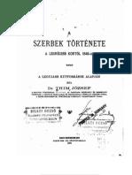 Dr. Thim József - A szerbek története a legrégibb kortól 1848-ig
