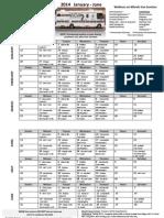 January 2014 to June 2014 WOW Van Schedule