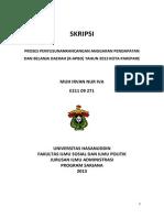 PROSES PENYUSUNANRANCANGAN ANGGARAN PENDAPATAN DAN BELANJA DAERAH (R-APBD) TAHUN 2013 KOTA PAREPARE