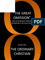 The Great Omission Session One