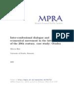 Dialogul Interconfesional Si Miscarea Ec Oradea