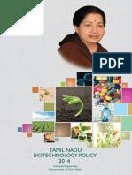 Tamil Nadu Biotechnology Policy 2014