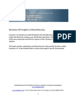 Dynamics GP Insights to Manufacturing