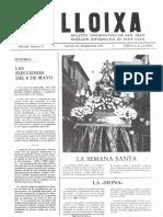 LLOIXA. Número 21, marzo/març 1983. Butlletí informatiu de Sant Joan. Boletín informativo de Sant Joan. Autor