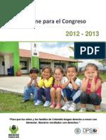 Insumo ICBF Informe Al Congreso DPS - 06 de Agosto de 2013