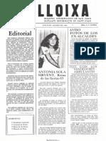 LLOIXA. Número 26, agosto/agost 1983. Butlletí informatiu de Sant Joan. Boletín informativo de Sant Joan. Autor