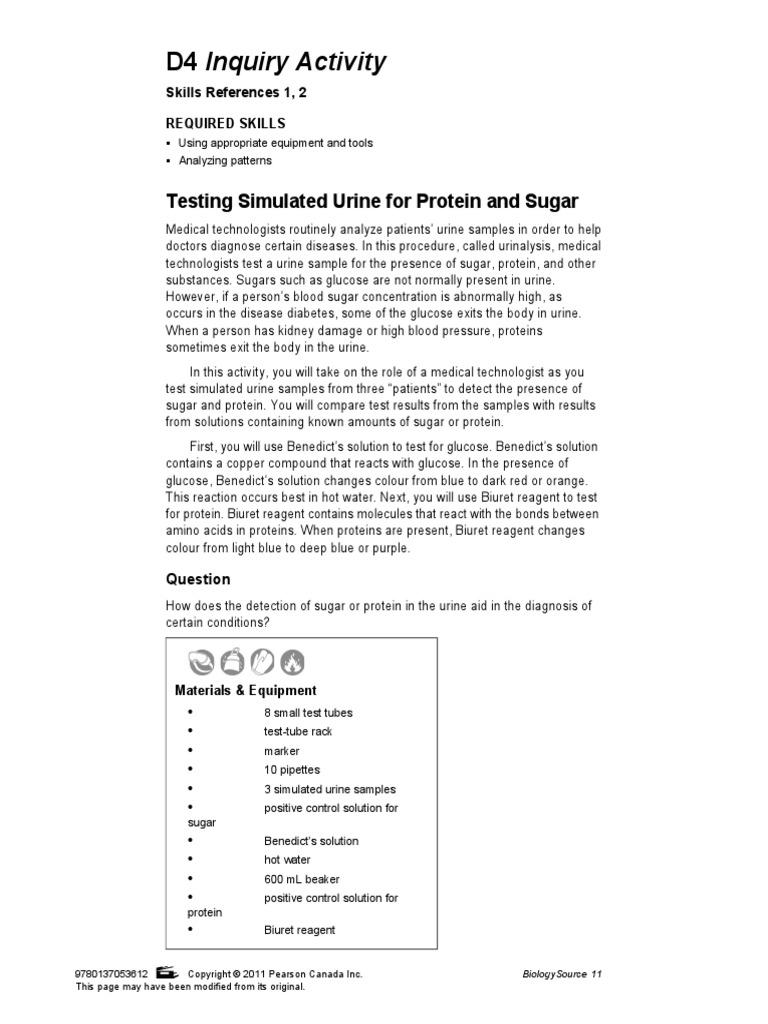 Protein activity test