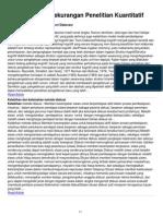 Kelebihan Dan Kekurangan Penelitian Kuantitatif(1)