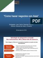 Presentación del Sr. Juan Carlos Capuñay