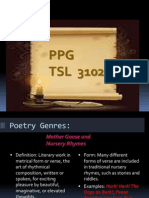 Slides on Types of Poems and Poetic Devices