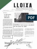 LLOIXA. Número 25,julio/juliol 1983. Butlletí informatiu de Sant Joan. Boletín informativo de Sant Joan. Autor