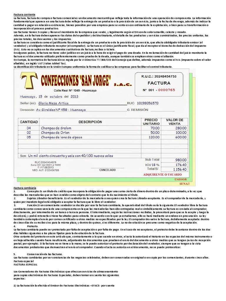 factura corriente autoguardado