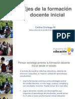 Ejes de formación docente inicial  Cinthia Chiriboga FORO NOV 24-2010