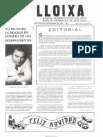LLOIXA. Número 29,noviembre/novembre 1983. Butlletí informatiu de Sant Joan. Boletín informativo de Sant Joan. Autor