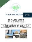 Guia de Viaje de Estudios Italia 2014