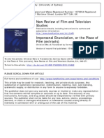 Impersonal Enunciation, Or the Site of Film - Extracts - Christian Metz