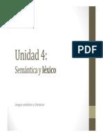 U4. Semántica y léxico (LÉXICO)