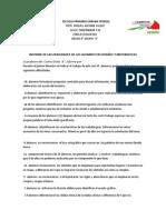 INFORME DE LAS DEBILIDADES DE LOS ALUMNOS EN ESPAÑOL Y MATEMATICAS 1er BIMESTRE