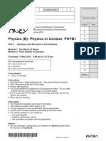 Aqa Phyb1 Qp Jun12