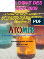 Catalogue Formation Continue Chimie Polymeres 2009