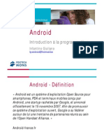 Android Introduction a La Programmation
