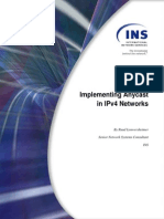 Implementing Anycast in Ipv4 Networks