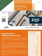 Previsión Fiscal 2014 - Calendario de Obligaciones Fiscales Contribuyentes Ordinarios