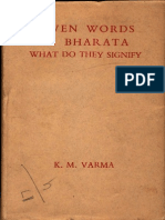 Seven Words in Bharata What Do They Signify - K M Varma