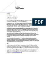FWFP_Statement From the Friends of the World Food Program Board of Directors on the Attack on WFP Offices in bad Pakistan