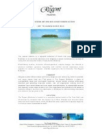 The Regent Maldives Fact Sheet
