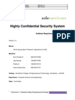 Highly Confidential Security System - Sole Survivors - Inital Release