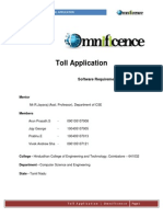 Toll Application in Android SRS