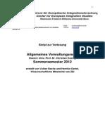 Vorlesungsskript Allgemeines Verwaltungsrecht SS 2012 Prof. Koenig (1)