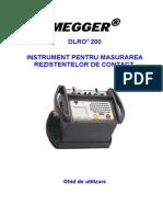 Manual DLRO200-V1.1Rezistenta de Contact