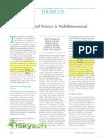 1991 AJOT Occupational Science is Multidimensionalı