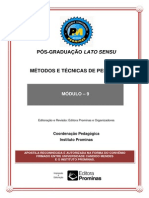 8MÉTODOS E TÉCNICAS DE PESQUISA
