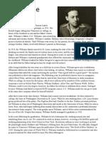 Tennessee Williams Bio