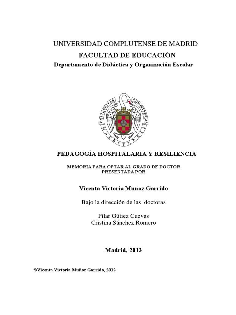 L Muñoz Tesis Doctoral Ped. hospitalaria y res