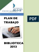 Plan de Trabajo de Biblioteca 2013.