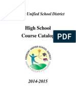 FUSD Senior High Course Catalog 2014-2015