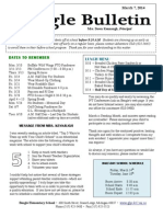 Beagle Elementary School Newsletter March 7, 2014