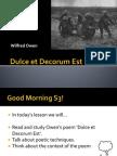 Owen's Dulce Et Decorum Est
