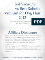 Robot Vacuum Reviews Best Robotic Vacuum for Dog Hair 2013