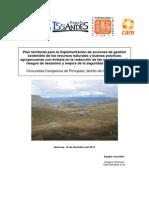 Plan territorial para la implementación de acciones de gestión sostenible de los recursos naturales y buenas prácticas agropecuarias con énfasis en la reducción de las condiciones de riesgos de desastres y mejora de la seguridad alimentaria en la comunidad de Pichupata