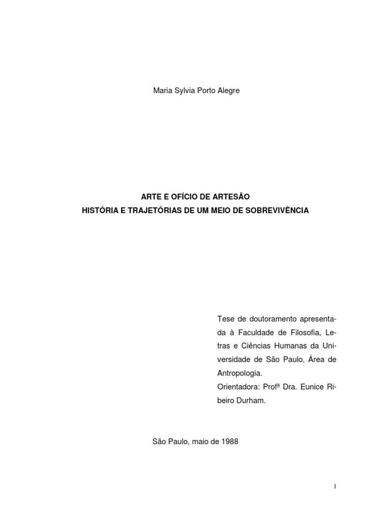 Arte e ofício de artesão  história e trajetórias de um meio de subsistência. 6ba20c645b2e3